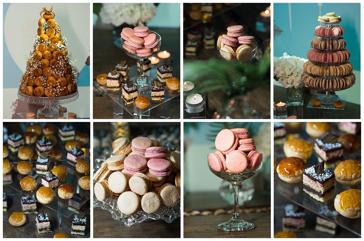 wedding dessert table by Gourmandises