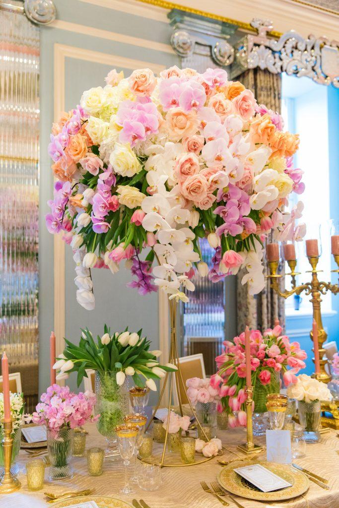 Opulent floral display