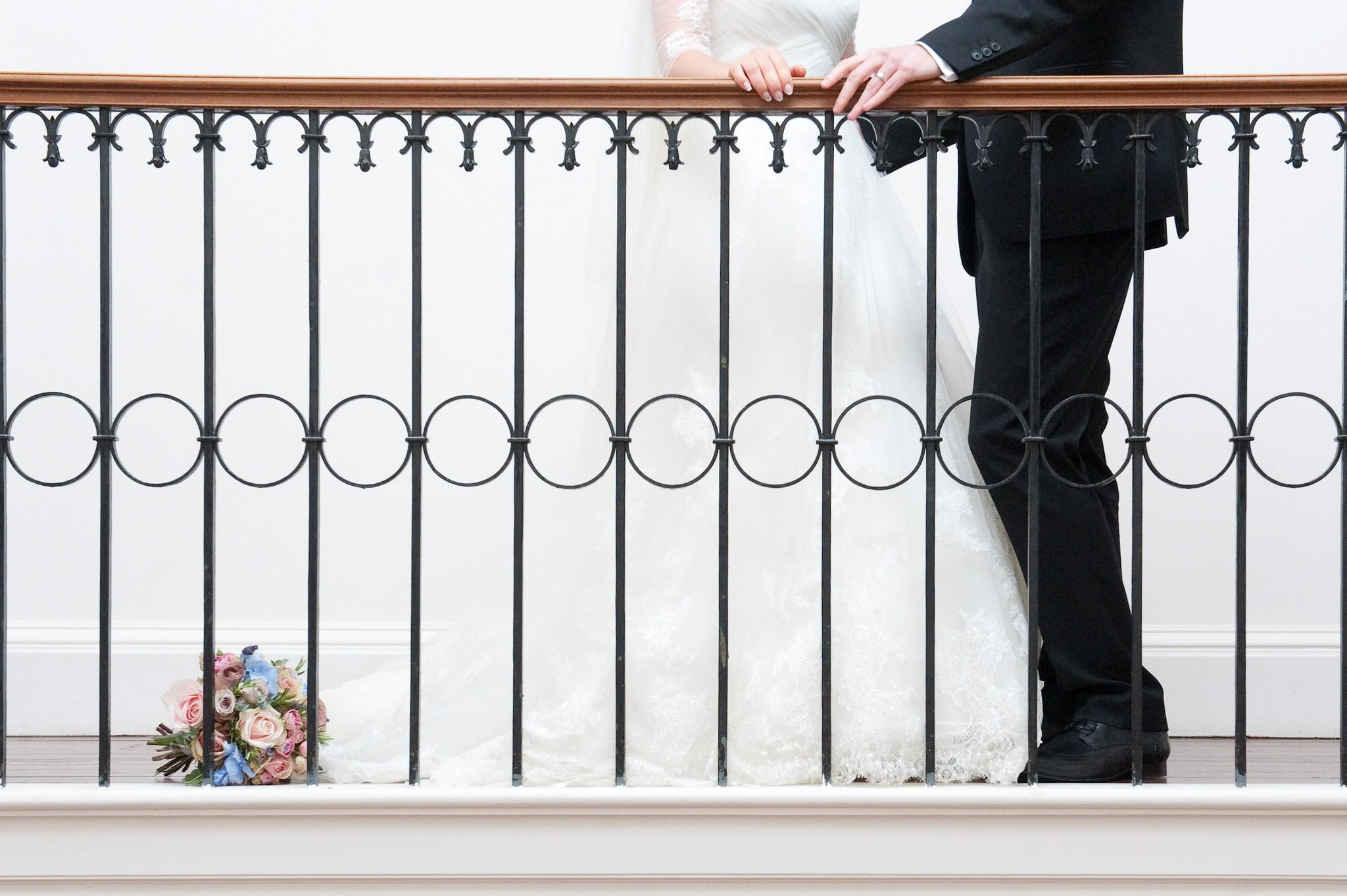 Balcony Bride and Groom - By Jackie Photography - www.byjackie.co.uk - @babies_by_jackie