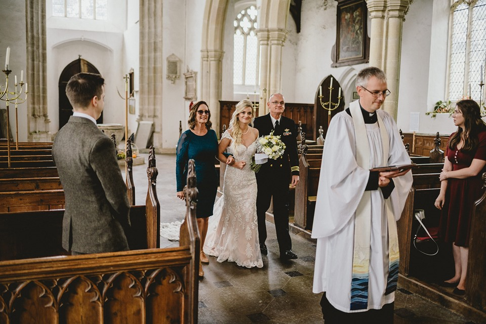 Micro church wedding by Emily Andrews. Photographer Benjamin Mathers.