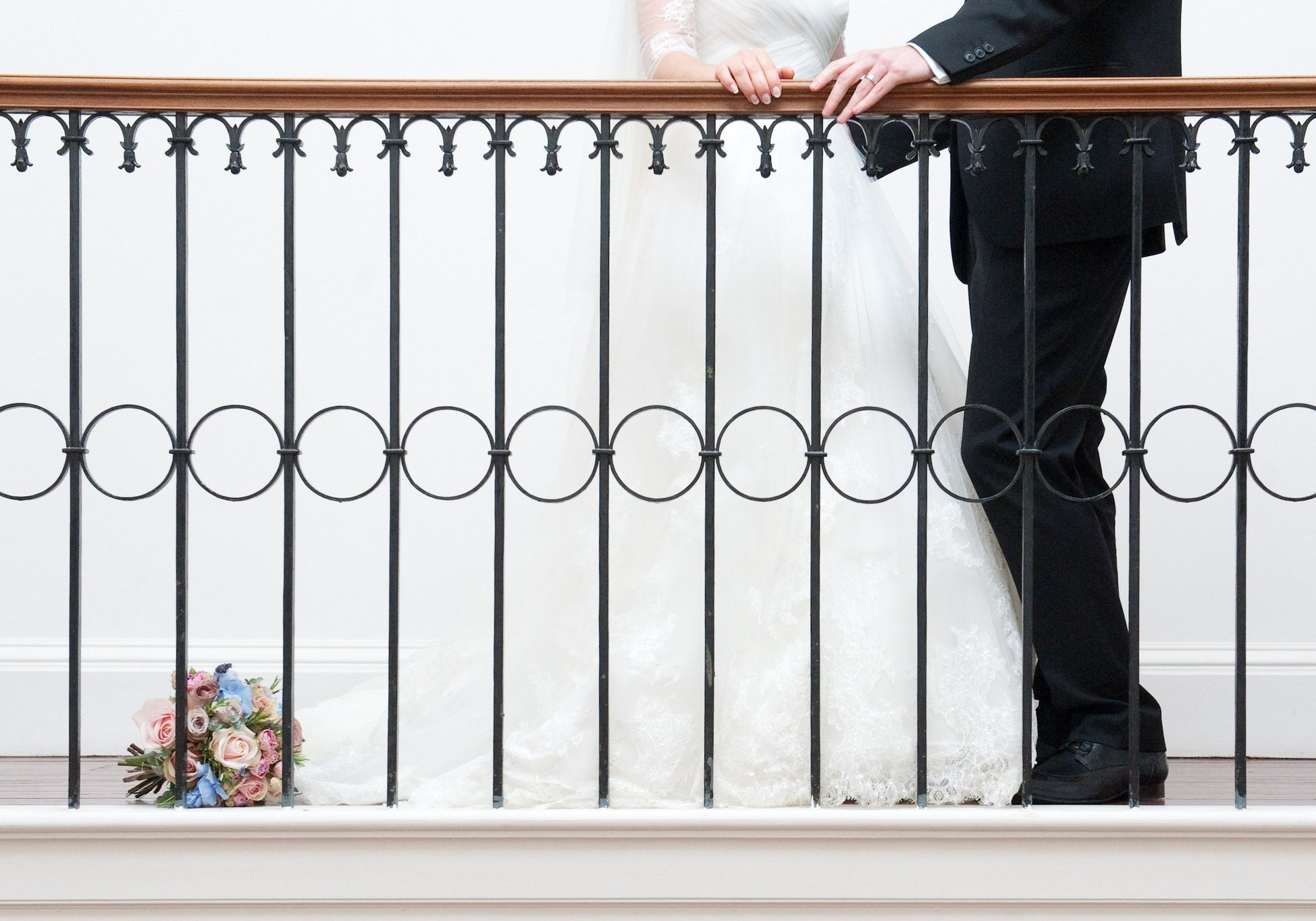 Balcony Bride and Groom - By Jackie Photography - www.byjackie.co.uk - @babies_by_jackie