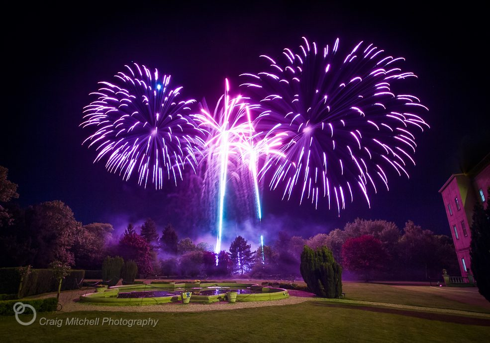 Wedding fireworks, photo by Craig Mitchell